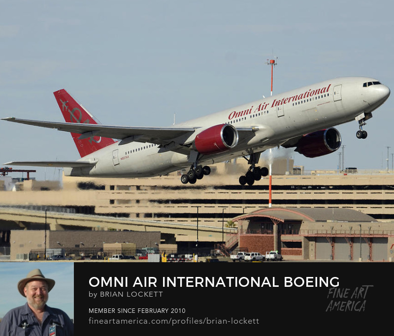 Omni Air International Boeing 777-222 N927AX Phoenix Sky HarborJanuary 3, 2016