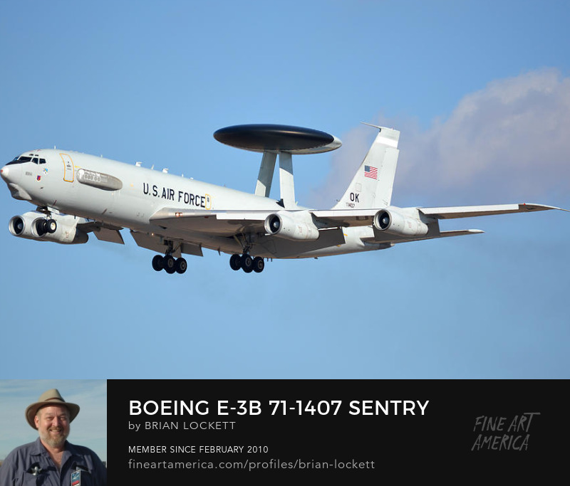 Boeing E-3B 71-1407 Sentry Phoenix Sky Harbor January 9, 2016