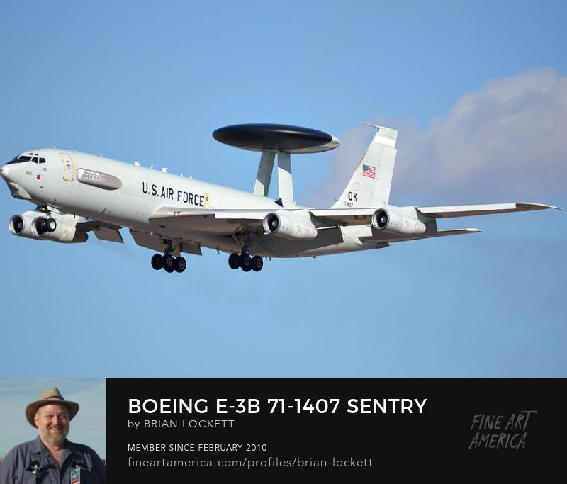 Boeing E-3B 71-1407 Sentry Phoenix Sky Harbor January 9, 2016