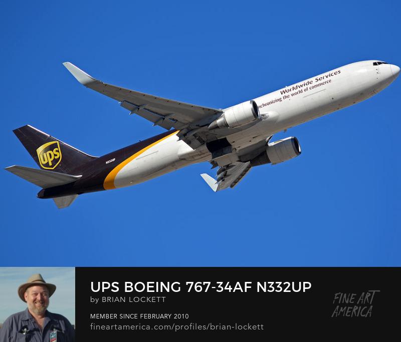 UPS Boeing 767-34AF N332U, Phoenix Sky Harbor, January 12, 2015