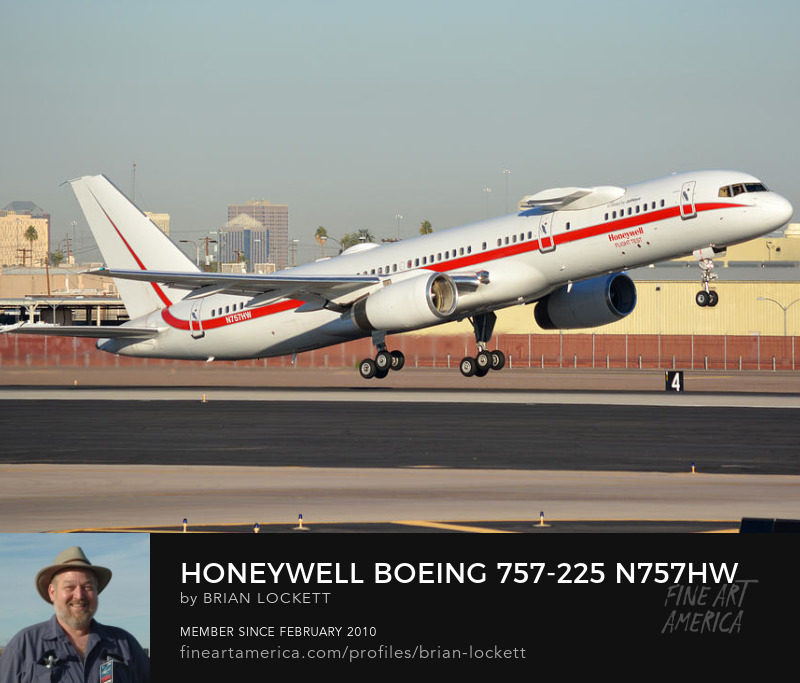 Honeywell 757-225 engine testbed N757HW, Phoenix Sky Harbor, January 12, 2015