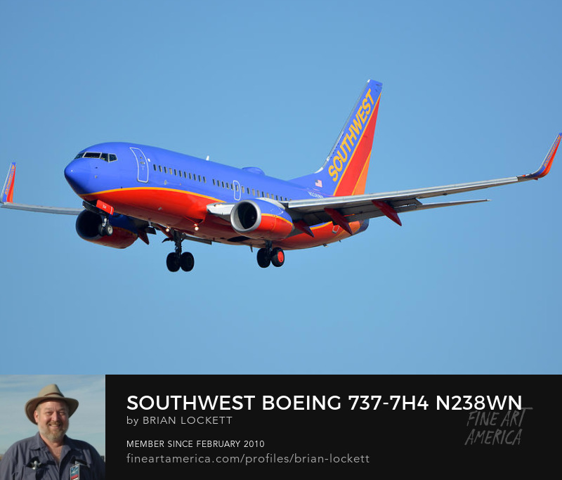 Southwest Boeing 737-7H4 N238WN, Phoenix Sky Harbor, January 12, 2015