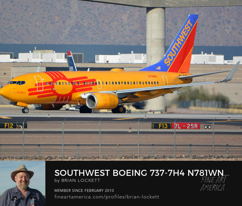 Southwest Boeing 737-7H4 N781WN New Mexico, Phoenix Sky Harbor, January 12, 2015