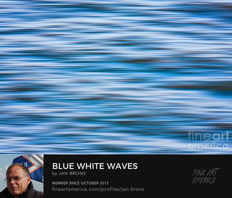 Blue white waves - Art Online