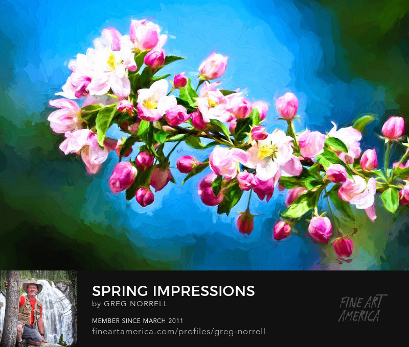 Impressionist view of spring flowers