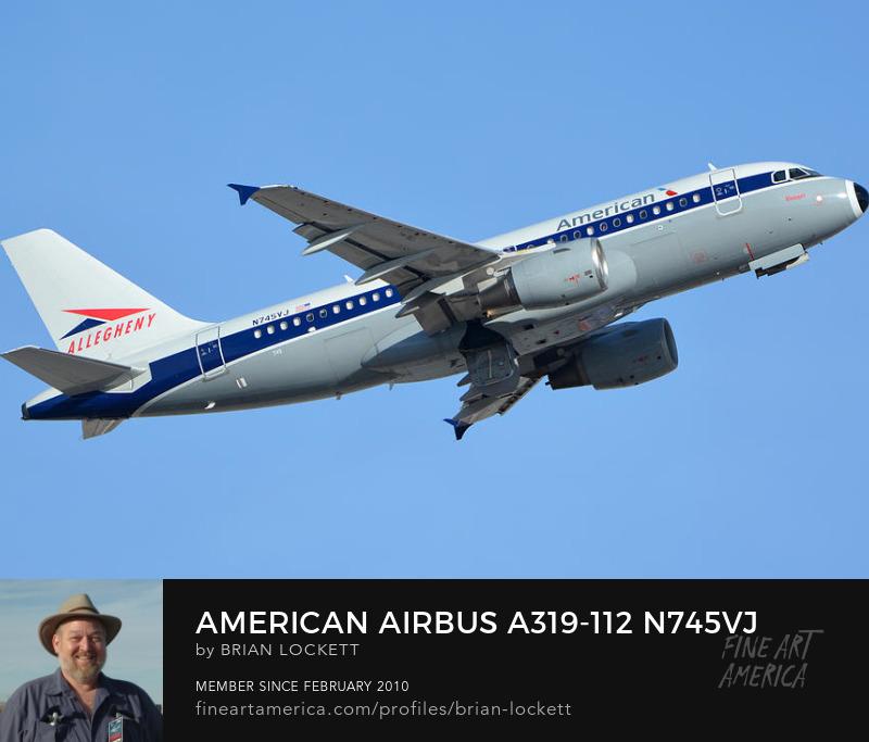 American Airbus A319-112 N745VJ Allegheny, Phoenix Sky Harbor, January 19, 2016