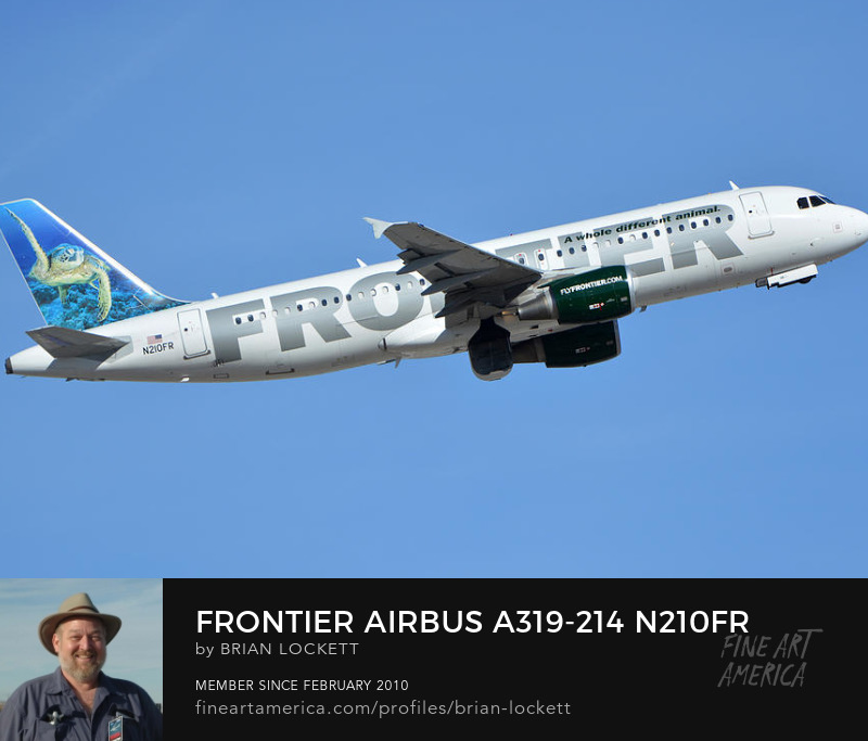 Frontier Airbus A319-214 N210FR Sheldon the Sea Turtle, Phoenix Sky Harbor, January 21, 2016