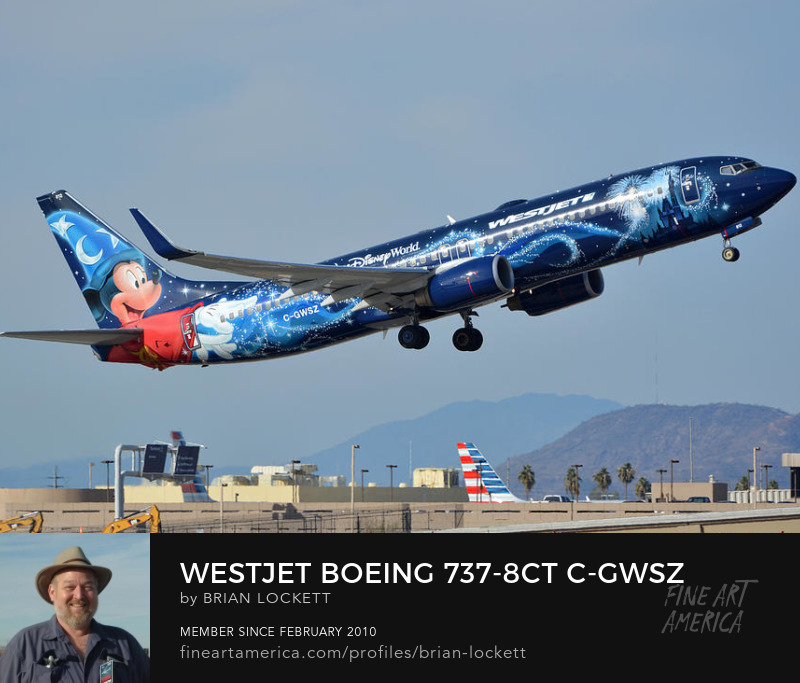 WestJet Boeing 737-8CT C-GWSZ Magic Plane, Phoenix Sky Harbor, January 22, 2016