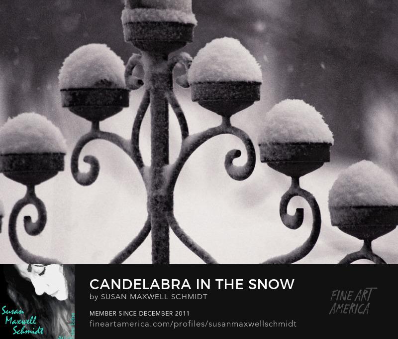 Candelabra in the Snow Art Print by Susan Maxwell Schmidt