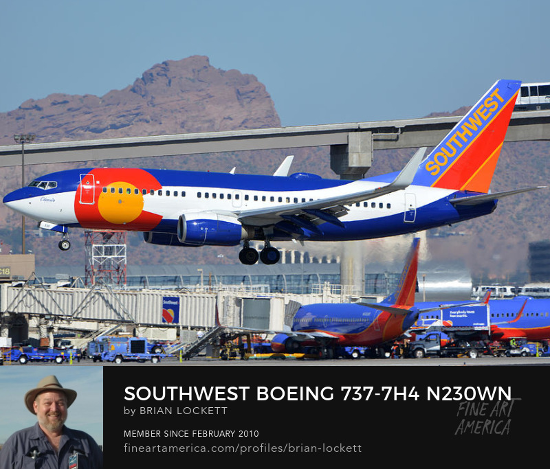 Southwest Boeing 737-7H4 N230WN Colorado One, Phoenix Sky Harbor, January 24, 2016