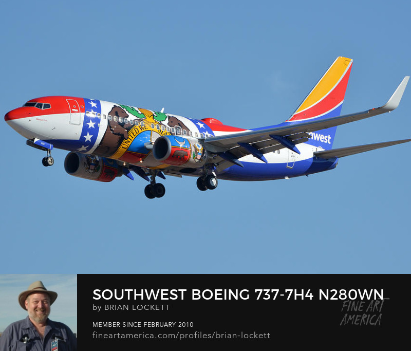 Southwest Boeing 737-7H4 N280WN Missouri One, Phoenix Sky Harbor, January 24, 2016