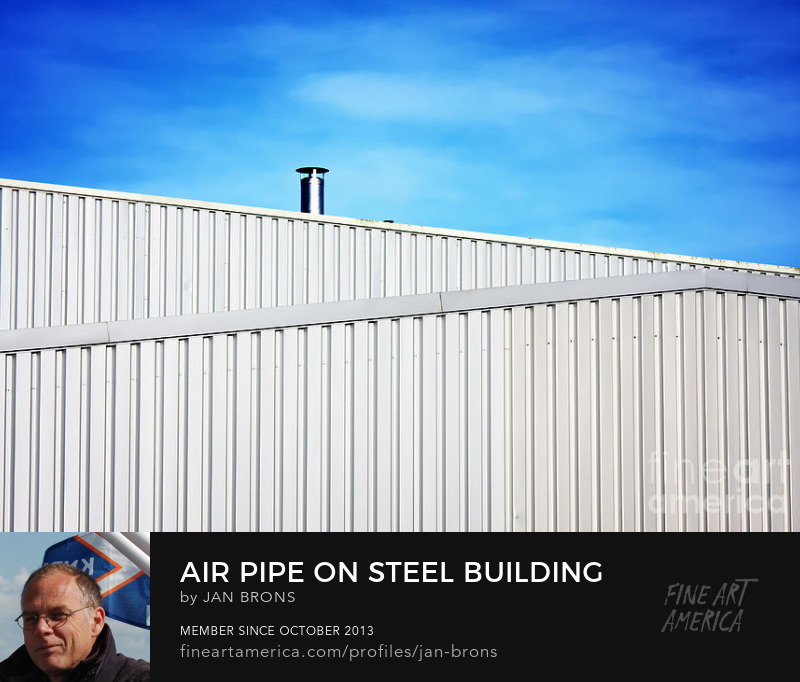 Air Pipe on steel building - Photography Prints