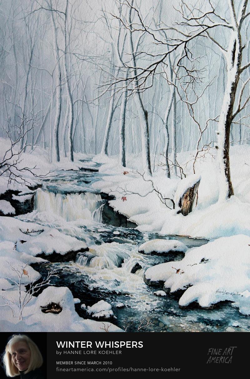 Winter Woods Landscape Art Prints