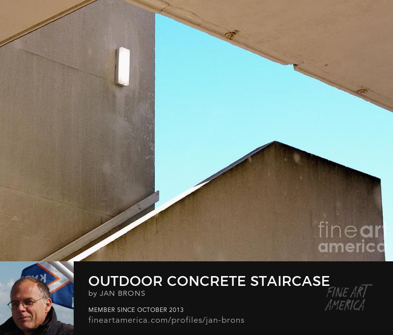 Outdoor Concrete Staircase - Art Prints