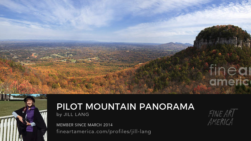 Panorama of Pilot Mountain