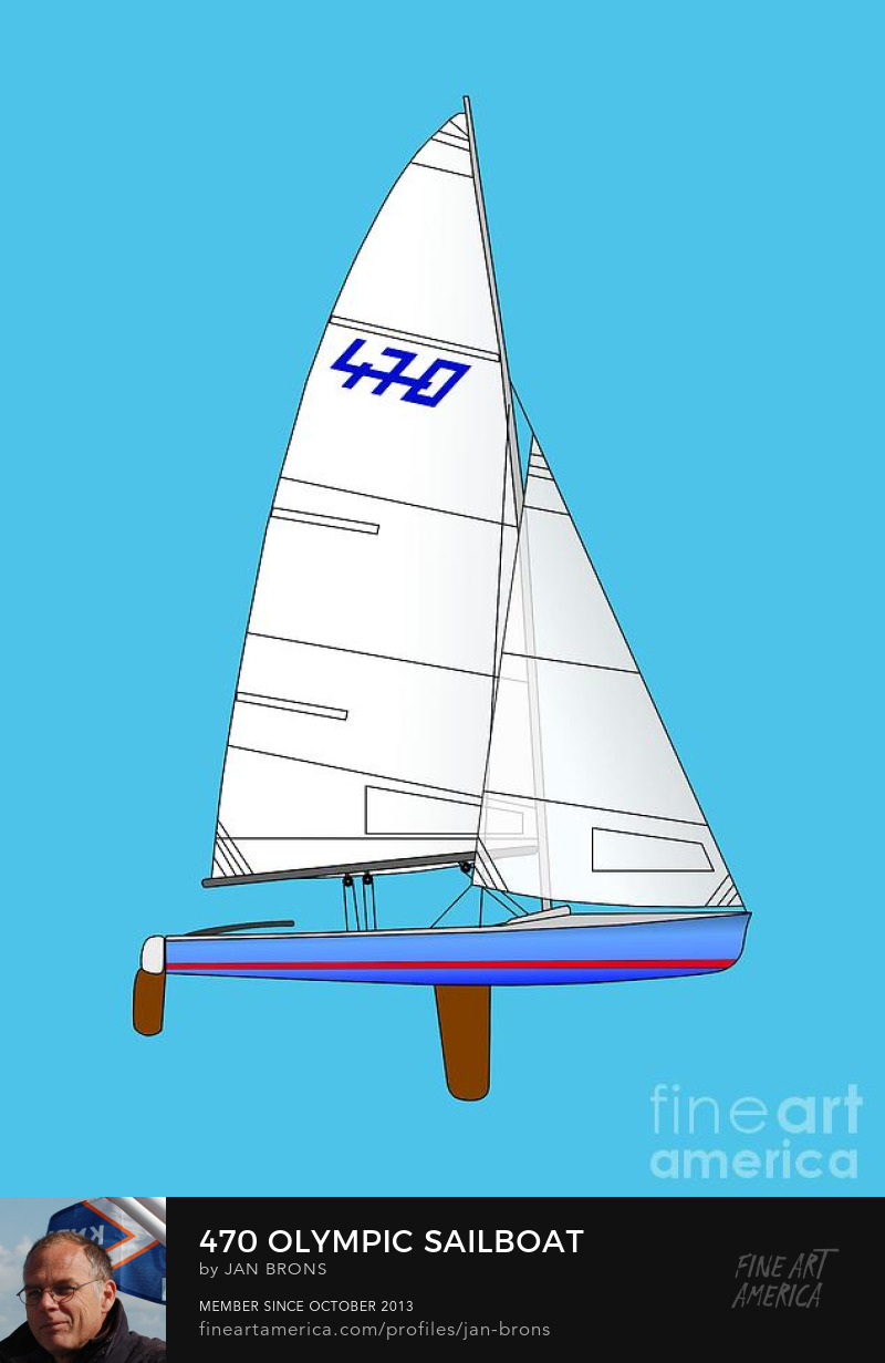 470 Olympic Sailboat - Photography Prints