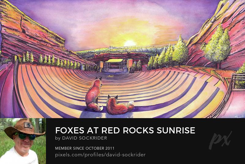 Red Rocks Sunrise Painting by David Sockrider