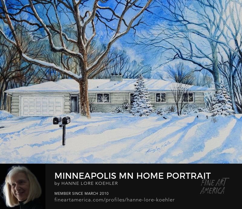 Minneapolis Minnesota Home Portrait
