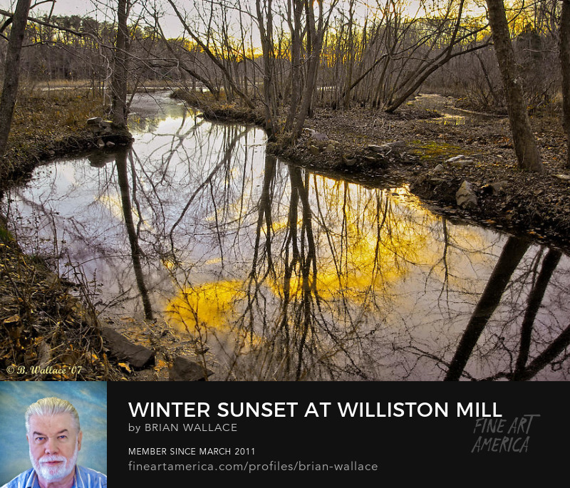 Winter Sunset At Williston Mill by Brian Wallace