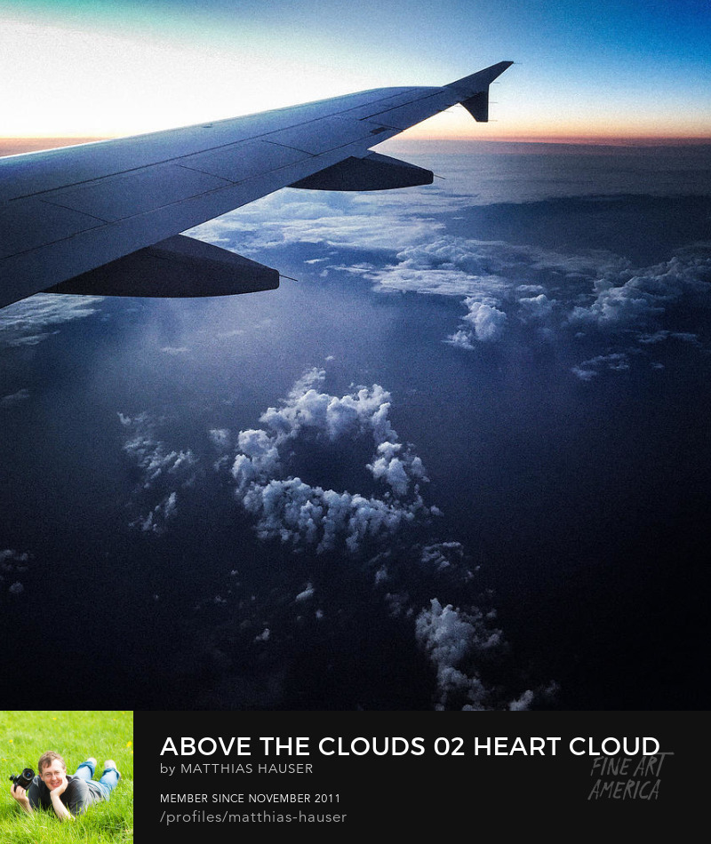 Heart shaped cloud Photography Print