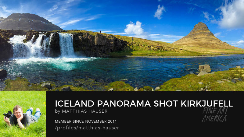 Kirkjufell Iceland panorama