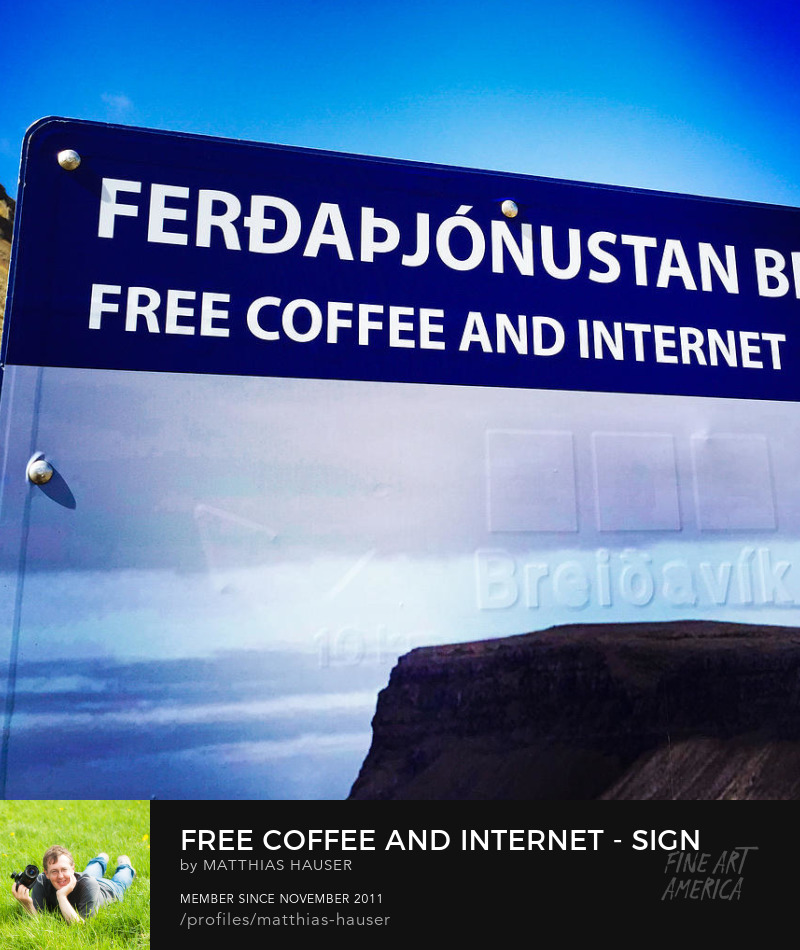 Sign Free Coffee and Internet in Iceland
