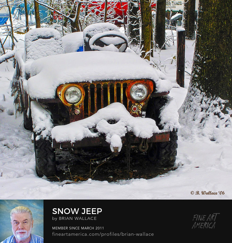 Snow Jeep by Brian Wallace