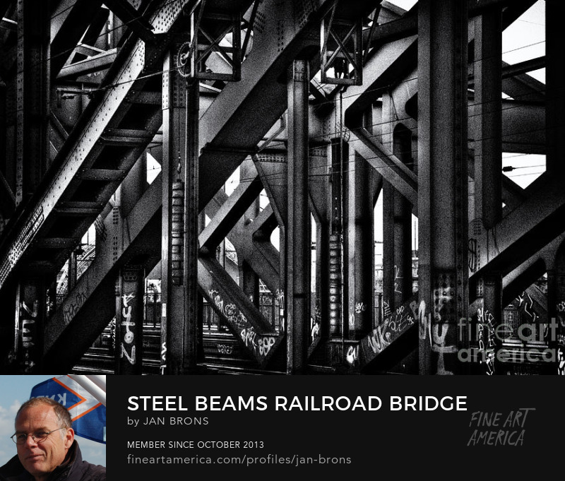 Steel Beams Railroad Bridge - Photography Prints