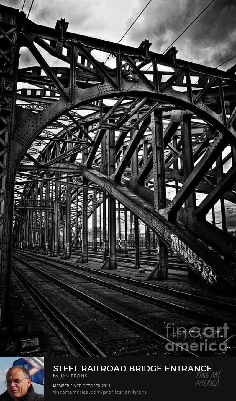 Steel Railroad Bridge Entrance -  Art Online