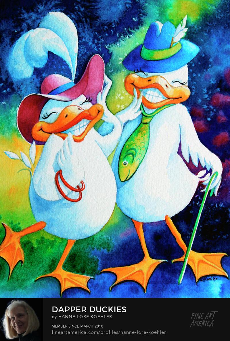 Dapper Duckies Art Prints for children