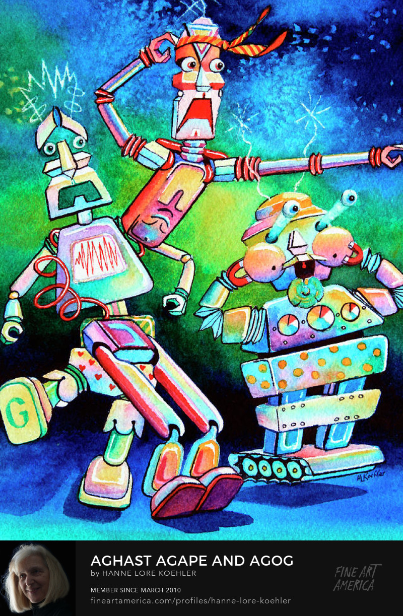 Robot Art Prints for children