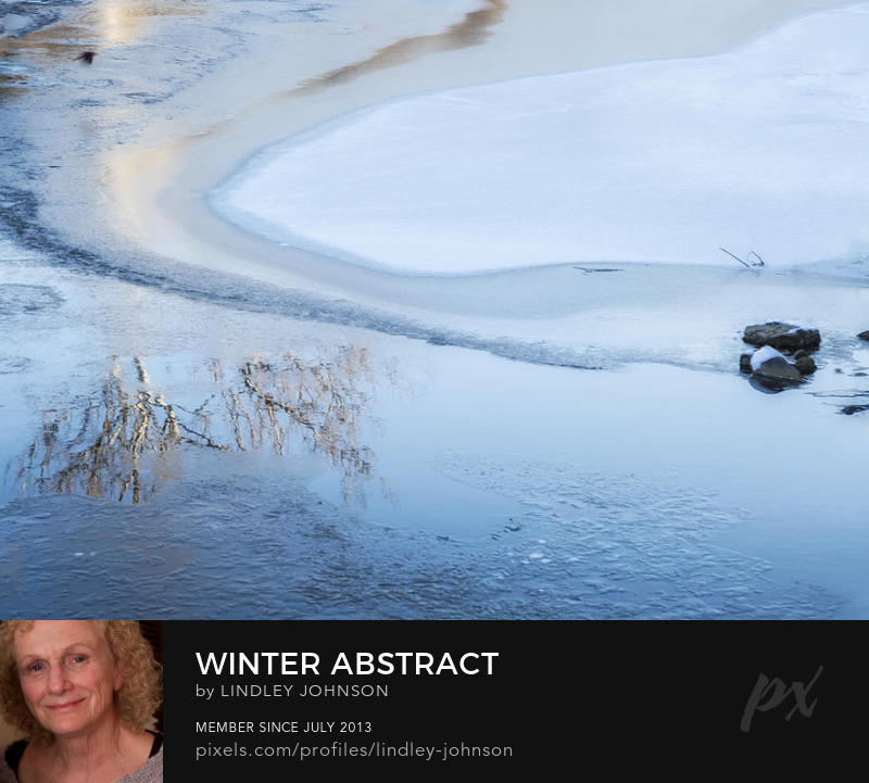 Winter Abstract icy water photograph by Lindley Johnson