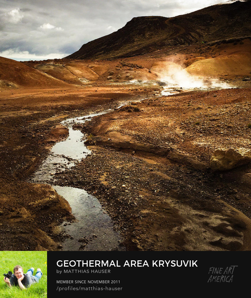 Iceland geothermal area Krysuvik Photography Prints