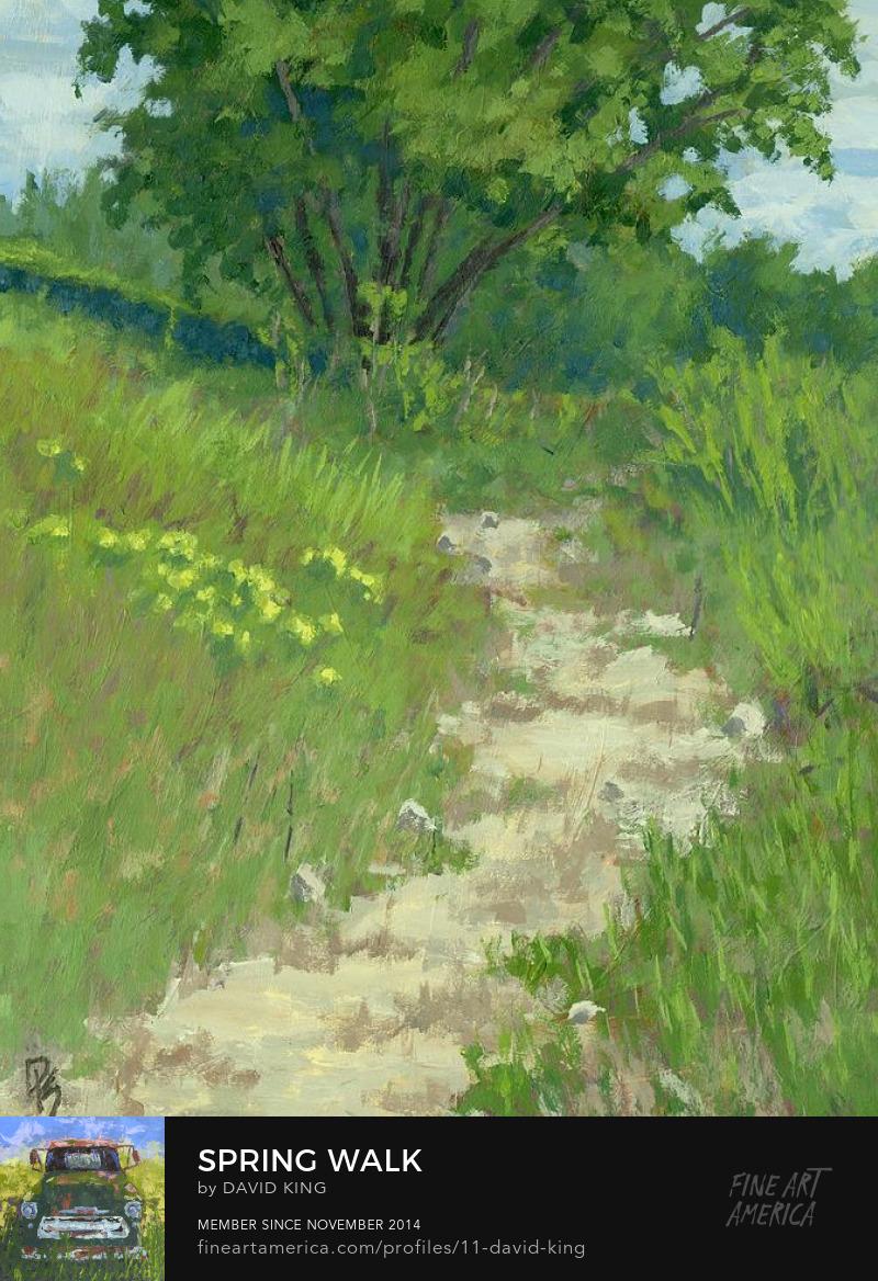 art painting landscape Jordan River Parkway spring Utah