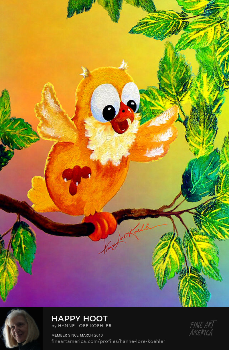 Happy Owl Painting For Children