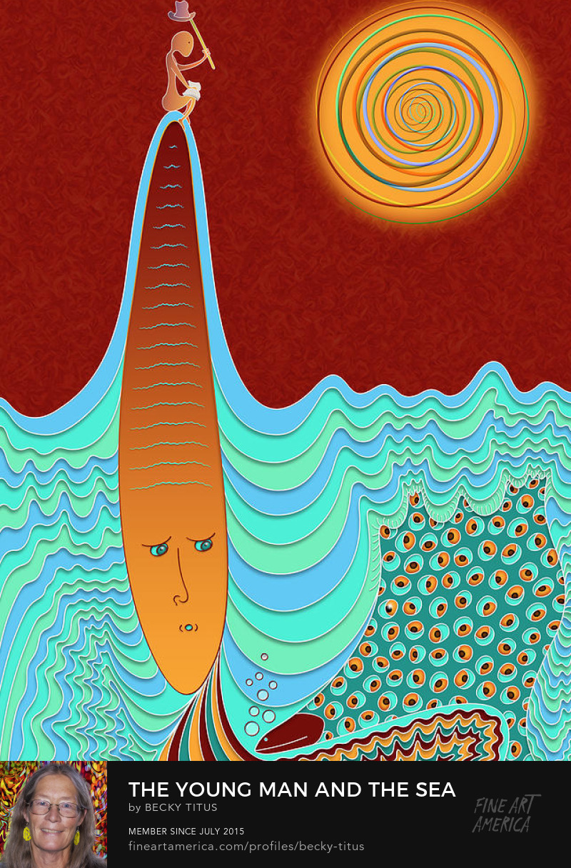 The Young Man And The Sea by Becky Titus' title=