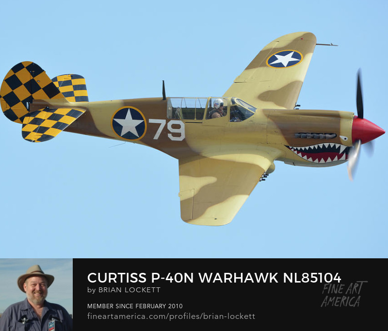 Curtiss P-40N Warhawk NL85104 at Chino, California, April 29, 2016