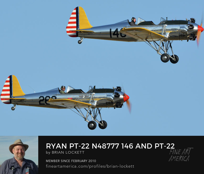 Ryan PT-22 N48777 146 and PT-22 N48742 269 at Chino, California, April 29, 2016