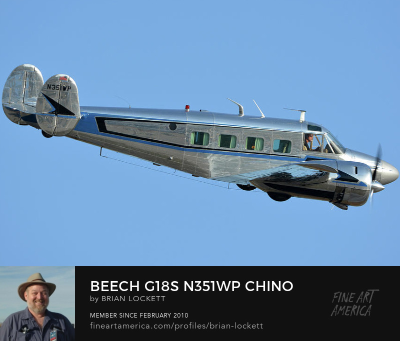 Beech G18S N351WP at Chino, California on April 29, 2016, 2016