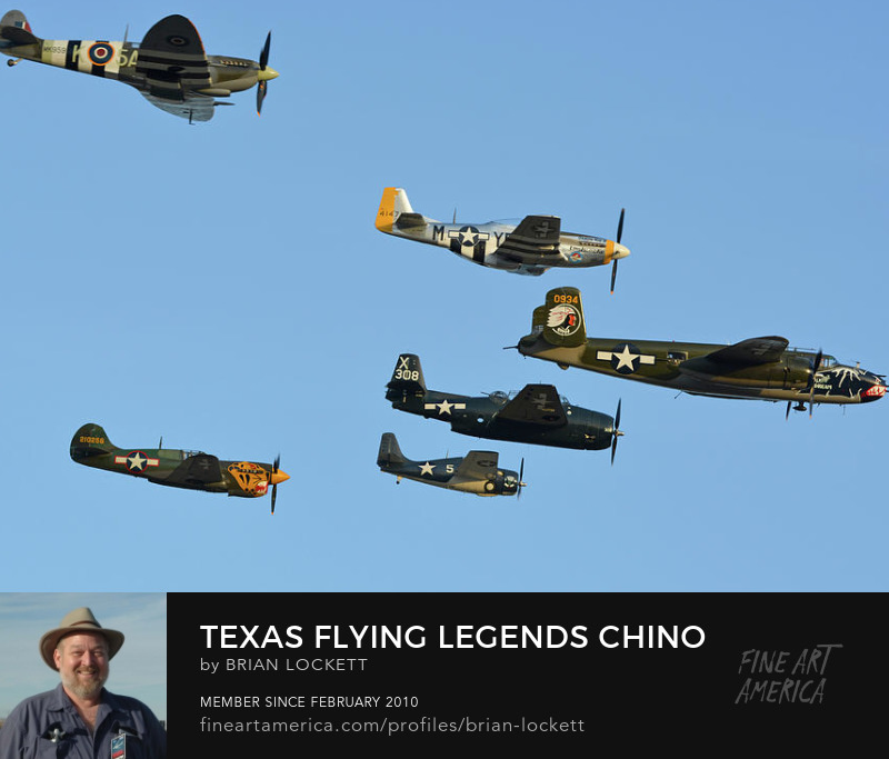 Texas Flying Legends: Supermarine Spitfire LF9C N959RT, North American P-51D Mustang NL151HR Dakota Kid II/Long Island Kid, North American B-25J Mitchell N5672V Betty