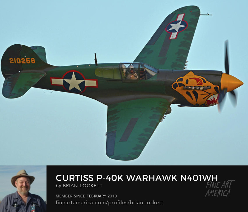Curtiss P-40K Warhawk N401WH at Chino, California on April 29, 2016