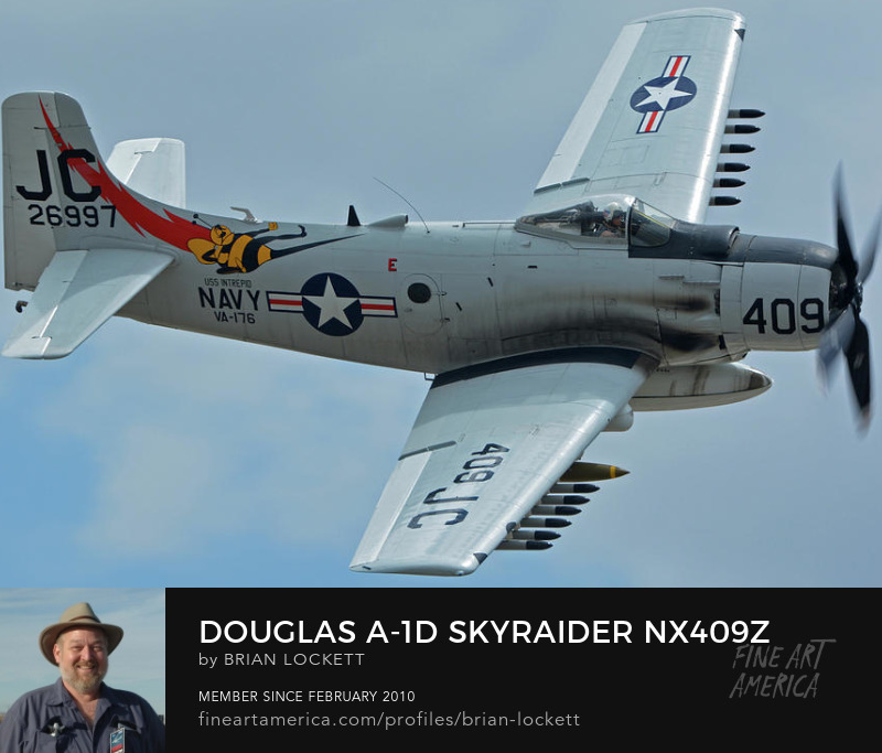 Douglas A-1D (AD-4NA) Skyraider NX409Z at Chino, California on April 30, 2016, 2016