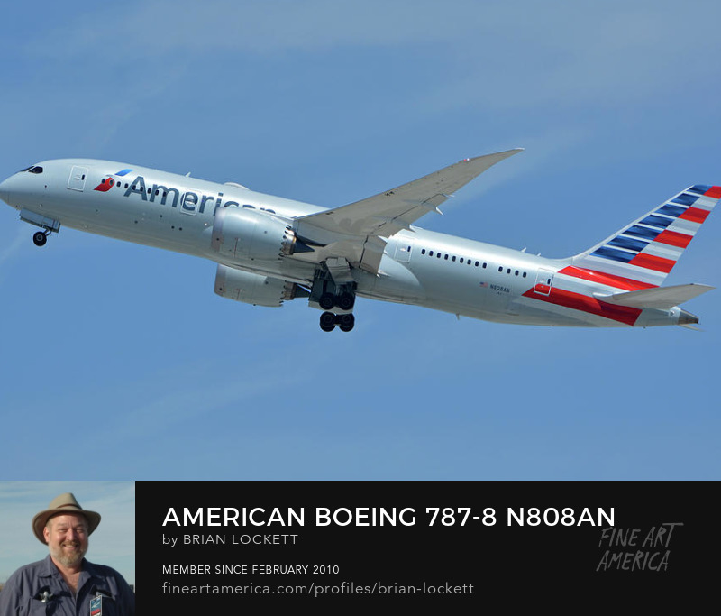 American Boeing 787-8 N808AN at Los Angeles International Airport on May 3, 2016, 2016