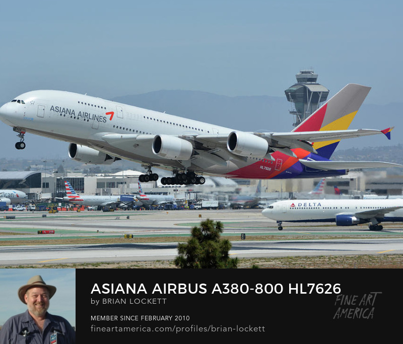 Asiana Airbus A380-800 HL7626 at Los Angeles International Airport on May 3, 2016, 2016
