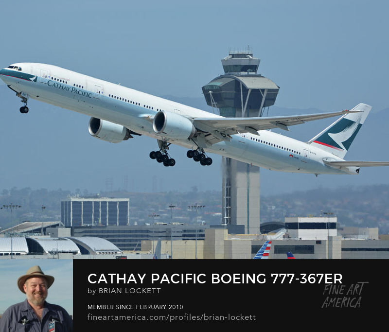 Cathay Pacific Boeing 777-367ER B-KPH at Los Angeles International Airport on May 3, 2016, 2016