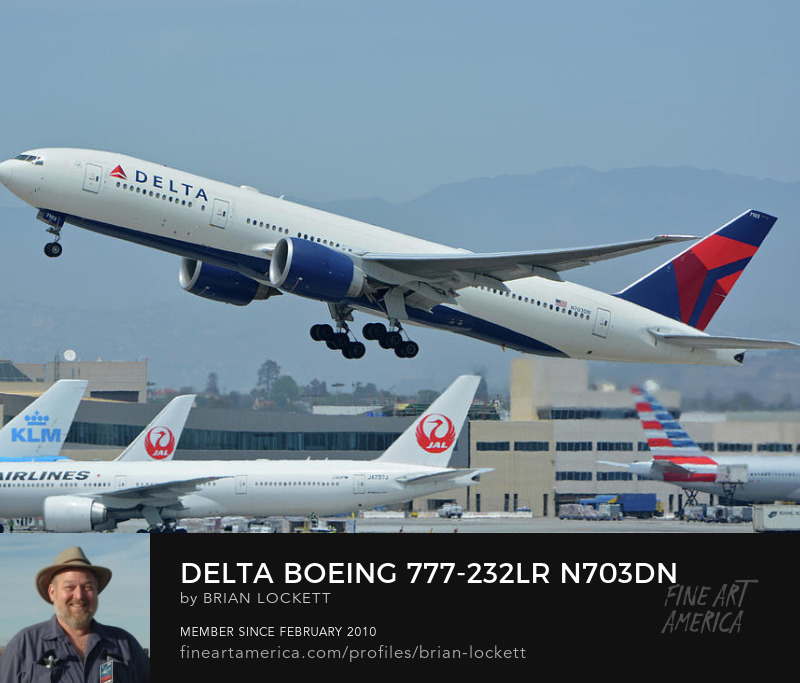 Delta Boeing 777-232LR N703DN at Los Angeles International Airport on May 3, 2016, 2016
