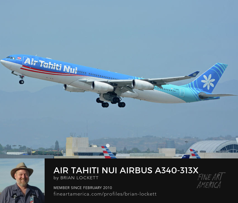 Air Tahiti Nui Airbus A340-313X F-OSEA at Los Angeles International Airport on May 3, 2016, 2016
