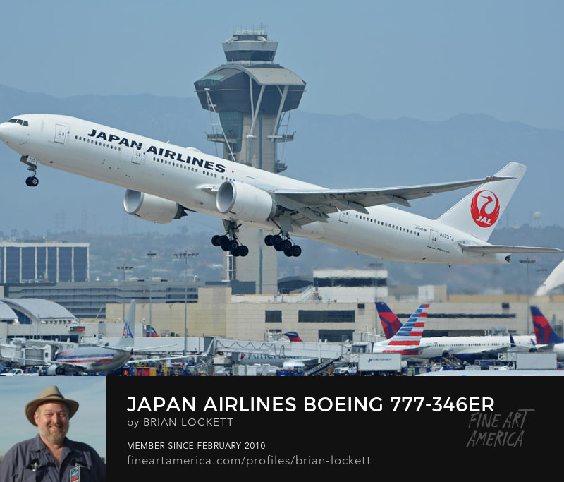 Japan Airlines Boeing 777-346ER JA737J at Los Angeles International Airport on May 3, 2016, 2016