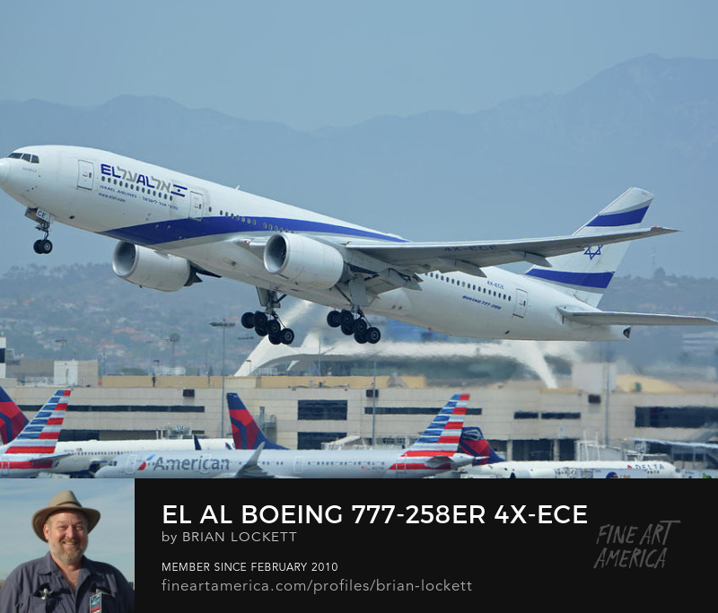 El Al Boeing 777-258ER 4X-ECE at Los Angeles International Airport on May 3, 2016, 2016