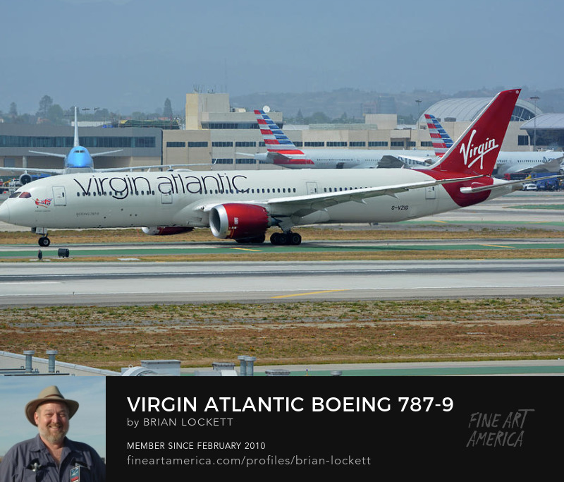 Virgin Atlantic Boeing 787-9 G-VZIG at Los Angeles International Airport on May 3, 2016, 2016